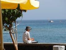 Sea, Vacation, Umbrella, Leisure stock photo