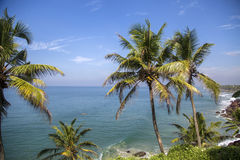 Sea in Varkala in Kerala state, India Royalty Free Stock Photo
