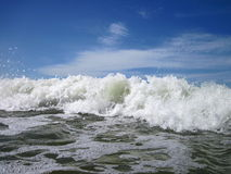 Sea vawes. White sea waves, can use as background Royalty Free Stock Photos