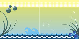 Sea vector background Stock Photos