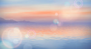 Sea Vector Background Stock Image