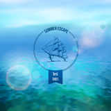 Sea Vector Background Royalty Free Stock Image