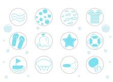 Sea vector icon set vector illustration