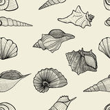 Sea vector seamless pattern Royalty Free Stock Photography