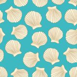 Sea vector seamless pattern Royalty Free Stock Photo