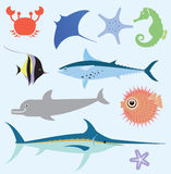 Sea vector set Stock Photos