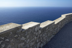 Sea view. Observation point Es Colomer on Fermentor peninsula on Mallorca Stock Image