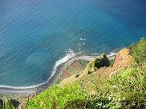 Sea View. Panoramic view from the mountain Cabo Ciaro on the island Madeira Royalty Free Stock Image