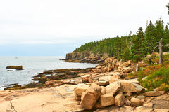 Sea view at Acadia National Park, Maine Royalty Free Stock Image