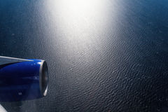 Sea view from airplane window Royalty Free Stock Photo
