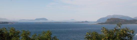 Sea view from Alesund stock photos