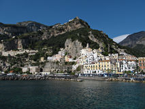 Sea View of Amalfi Stock Images