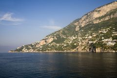 Sea view of Amalfi, a town in the province of Salerno, in the region of Campania, Italy, on the Gulf of Salerno, 24 miles southeas Royalty Free Stock Photography