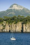 Sea view of Amalfi, a town in the province of Salerno, in the region of Campania, Italy, on the Gulf of Salerno, 24 miles southeas Royalty Free Stock Photos