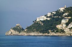 Sea view of Amalfi, a town in the province of Salerno, in the region of Campania, Italy, on the Gulf of Salerno, 24 miles southeas Stock Photos