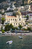 Sea view of Amalfi, a town in the province of Salerno, in the region of Campania, Italy, on the Gulf of Salerno, 24 miles southeas Stock Image