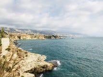 Sea view. Amchit. Jbeil District. Lebanon. Middle East royalty free stock photos