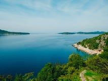 Sea view from the Arboretum Trsteno Stock Photos