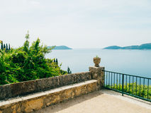 Sea view from the Arboretum Trsteno. Near Dubrovnik, Croatia Royalty Free Stock Photography