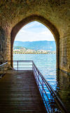Sea view from the arch, Alanya, Turkey Stock Photography