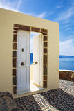 Sea view and architecture in Oia Royalty Free Stock Images