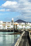 Sea View At Castle Of San Gabriel And Arrrecife, Lanzarote, Canary Islands Stock Images