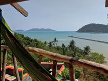 Tropic sea view in Thailand stock photo