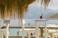 Sea View Bar and glass drink. In Turkey royalty free stock photos