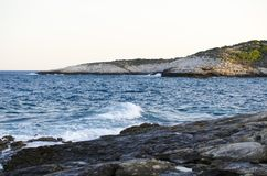 Sea view. Beach clifs and rocks Stock Images