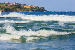 Sea view from beach. Royalty Free Stock Photography