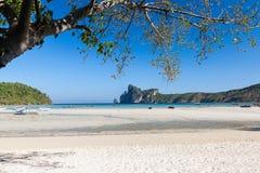 Sea view and beach at Loh Dalum Bay. Stock Photo