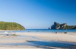 Sea view and beach at Loh Dalum Bay. Royalty Free Stock Photo