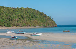 Sea view and beach at Loh Dalum Bay. Royalty Free Stock Images