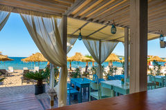 Sea view from Beach restaurant Royalty Free Stock Photography