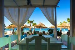 Sea view from Beach restaurant Stock Photo