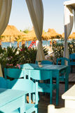 Sea view from Beach restaurant Royalty Free Stock Photo