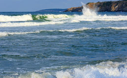 Sea view from beach. Royalty Free Stock Photo