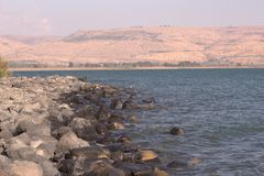 A sea view. A beatifull landscape of tiberias Stock Images