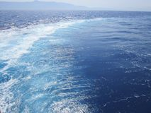 Sea view. Beautiful view of the sea during a boat trip Stock Photography