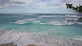 Sea view with big waves on Bali stock video