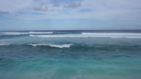 Sea view with big waves on Bali stock video footage