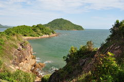Sea view and  blue sky. In Chantaburi thailand Stock Images