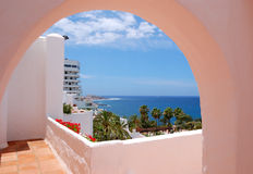 The sea view from a building of luxury hotel Royalty Free Stock Images