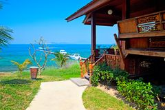 Sea-view bungalow Royalty Free Stock Images