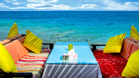 Sea view cafe Royalty Free Stock Image