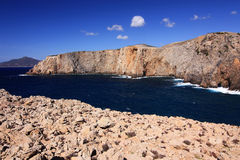Sea view in Cala Domestica, Sardinia, Italy. Stock Photos