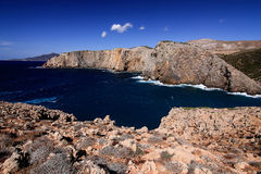 Sea view in Cala Domestica, Sardinia, Italy. Royalty Free Stock Photography