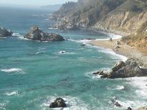 Shore line view California coast. Sea shore line view in california Royalty Free Stock Image