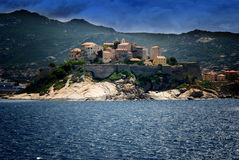 Sea view at Calvi old town on Corsica island in France Stock Photo