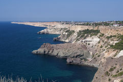 Sea view from the Cape Fiolent (Ukraine, Crimea) Royalty Free Stock Images